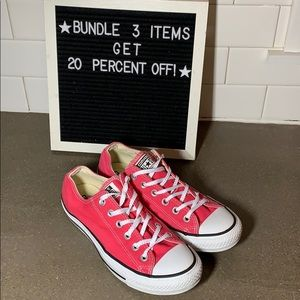 Pink converse all stars sneakers